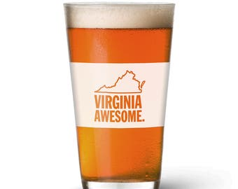 Virginia Awesome Pint Glass