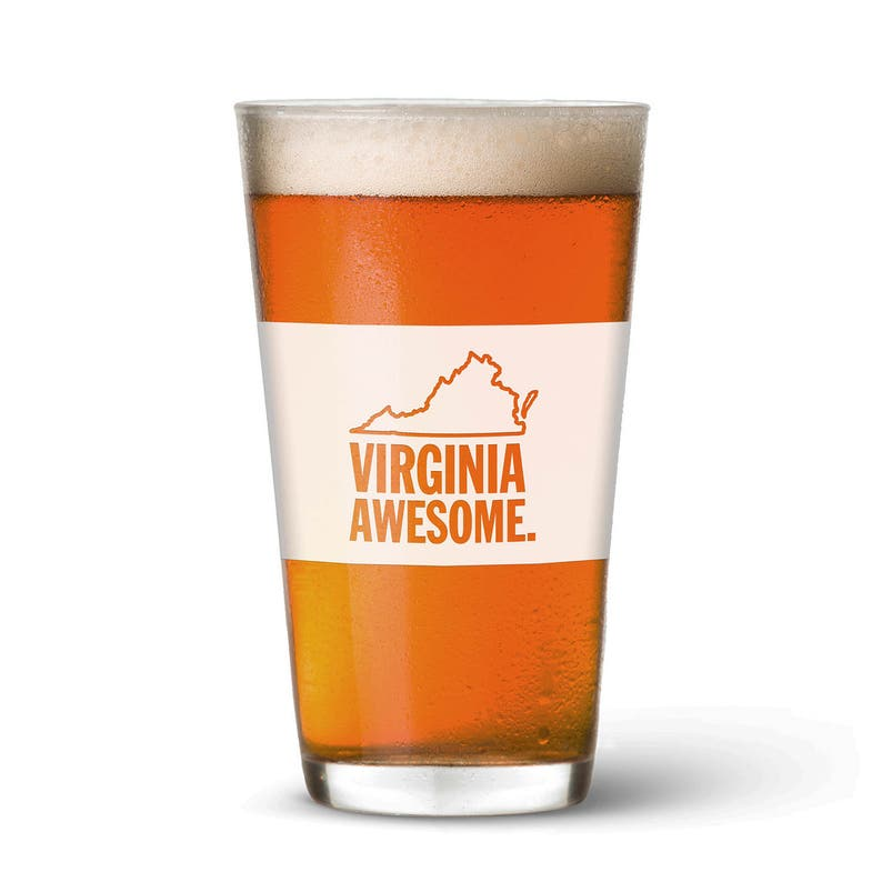 Virginia Awesome Pint Glass image 0