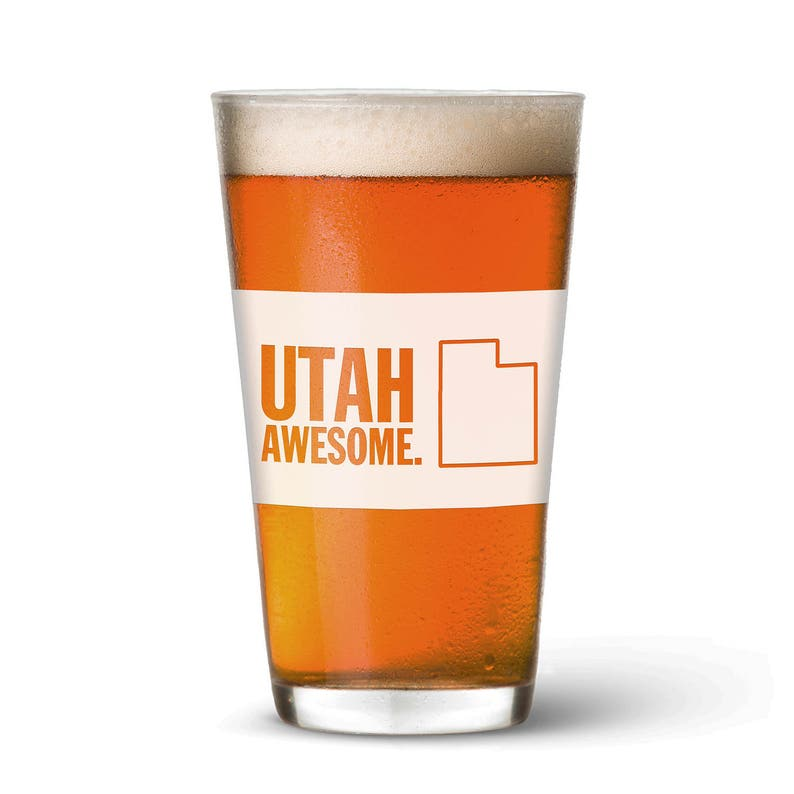 Utah Awesome Pint Glass image 0