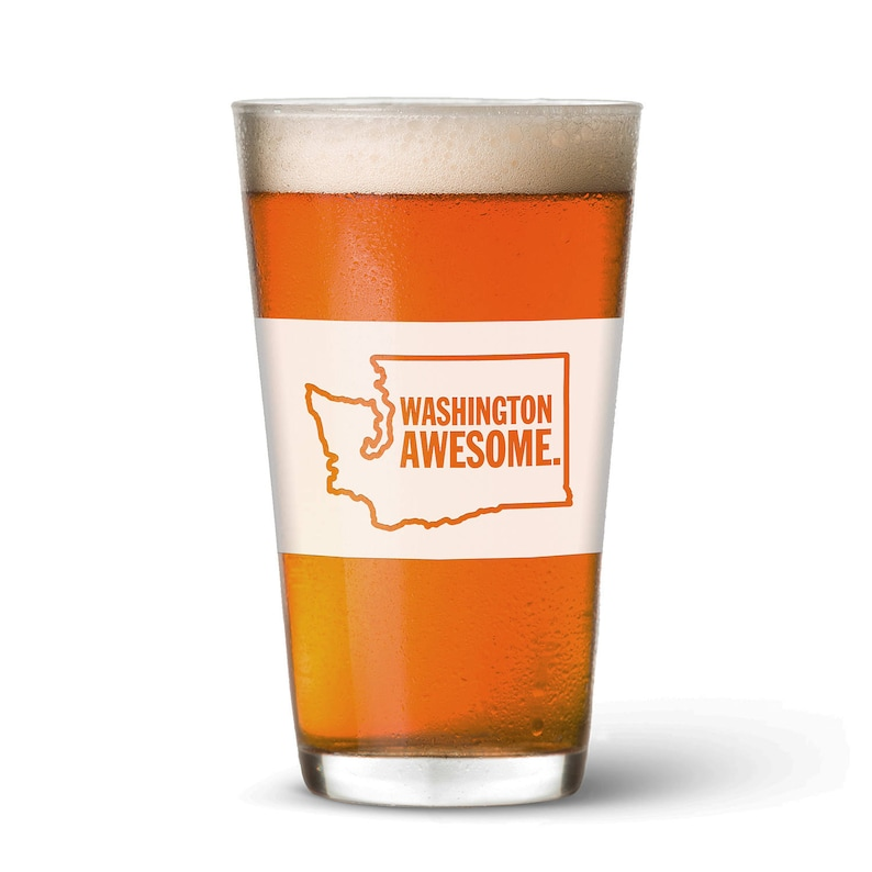 Washington Awesome Pint Glass image 0
