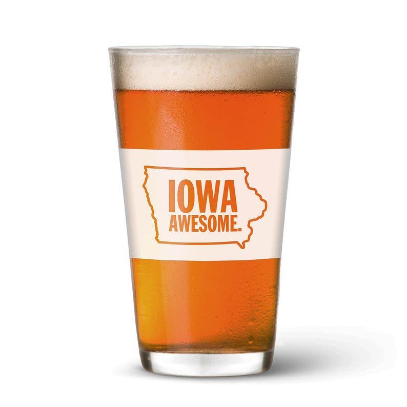 Iowa Awesome Pint Glass image 0