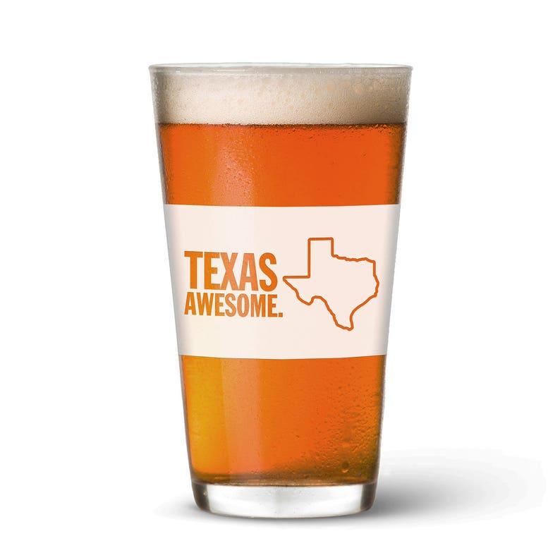 Texas Awesome Pint Glass image 0