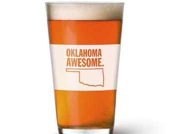 Oklahoma Awesome Pint Glass