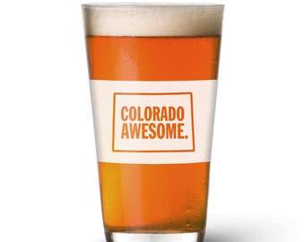 Colorado Awesome Pint Glass