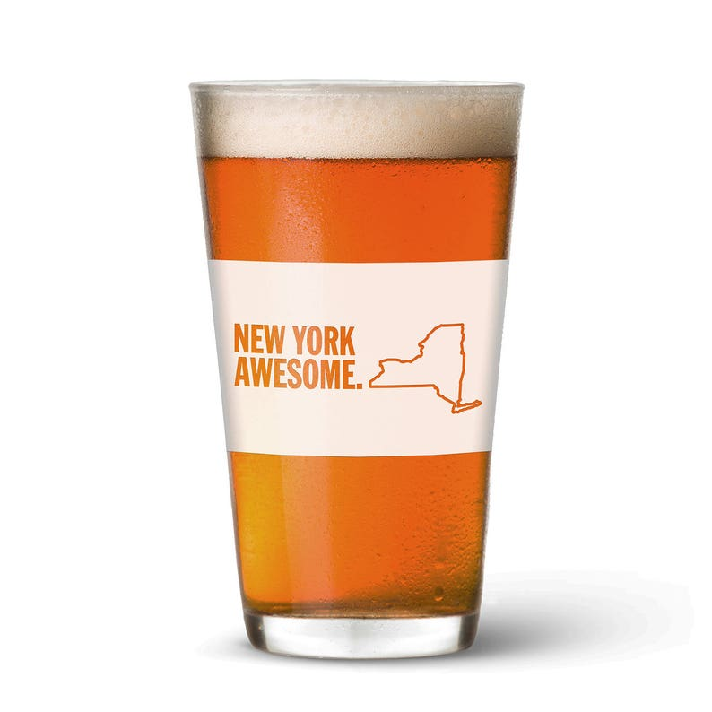 New York Awesome Pint Glass image 0