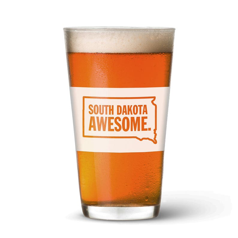 South Dakota Awesome Pint Glass image 0