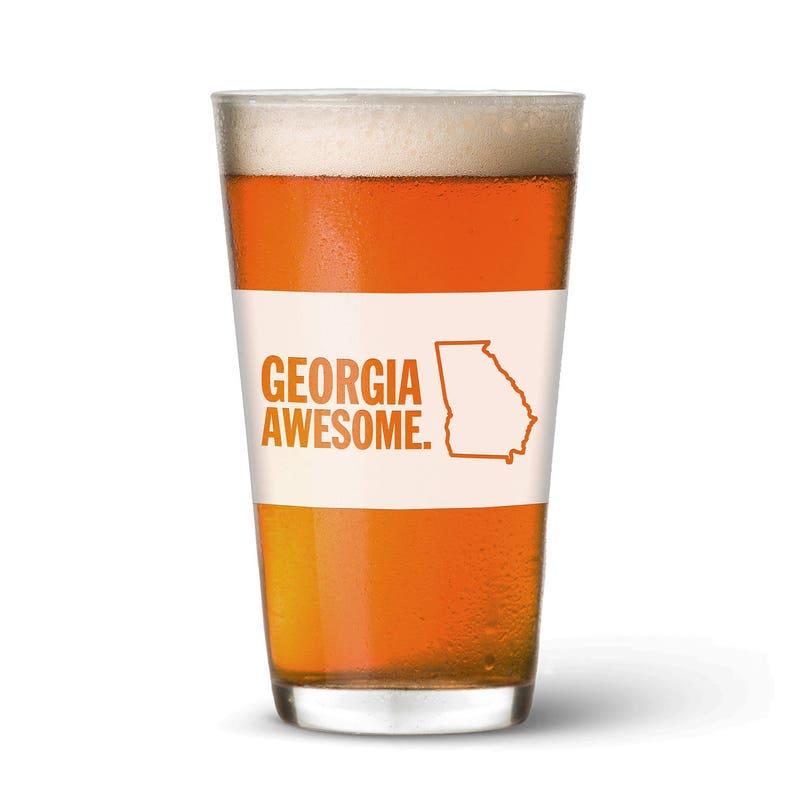 Georgia Awesome Pint Glass image 0