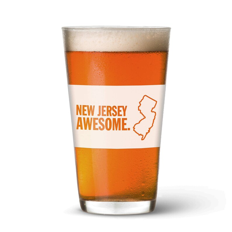 New Jersey Awesome Pint Glass image 0