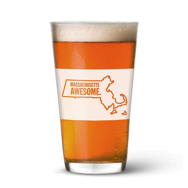 Massachusetts Awesome Pint Glass image 0