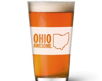 Ohio Awesome Pint Glass