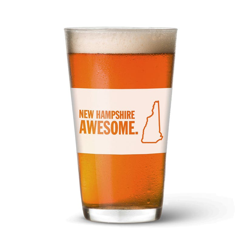 New Hampshire Awesome Pint Glass image 0