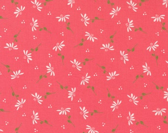 Sincerely Yours, Dainty Floral Daisy, Flamingo by Sherri & Chelsi for Moda Fabrics, 37612-14, Stitch Pink, Together, Pink
