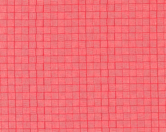 Sincerely Yours, Geometric Blender, Geranium by Sherri & Chelsi for Moda Fabrics, 37616-13 Stitch Pink, Together, Red