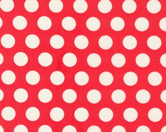 Sincerely Yours, Dots Blender,  Geranium by Sherri & Chelsi for Moda Fabrics, 37611-20, Stitch Pink, Geometric, Red