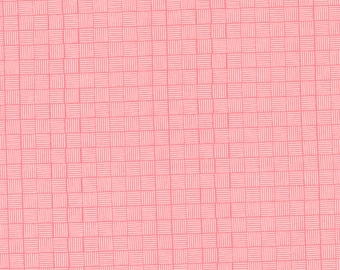 Sincerely Yours, Geometric Blender, Flamingo by Sherri & Chelsi for Moda Fabrics, 37616-15 Stitch Pink, Together, Pink