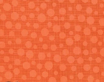 Hash Dot from the Safari Friends Collection in Tangerine  by Michael Miller Fabrics