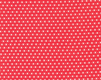 Sincerely Yours, Criss Cross Geometric Blender, Geometric by Sherri & Chelsi for Moda Fabrics, 37613-13, Stitch Pink, Together, Red