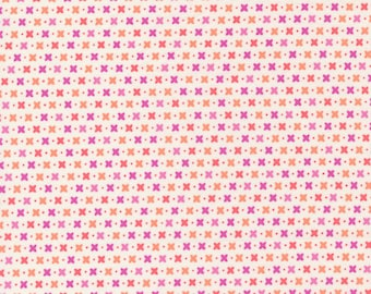 Sincerely Yours, Criss Cross Geometric Blender, Ivory by Sherri & Chelsi for Moda Fabrics, 37612-14, Stitch Pink, Together