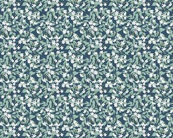 Whimsical Romance Willow Denim designed by Keera Job for Riley Blake Design, C11084-Denim, Floral, yardage