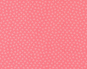 Sincerely Yours, Spring Dots Geometric Blender, Flamingo by Sherri & Chelsi for Moda Fabrics, 37615-17, Stitch Pink, Together, Pink