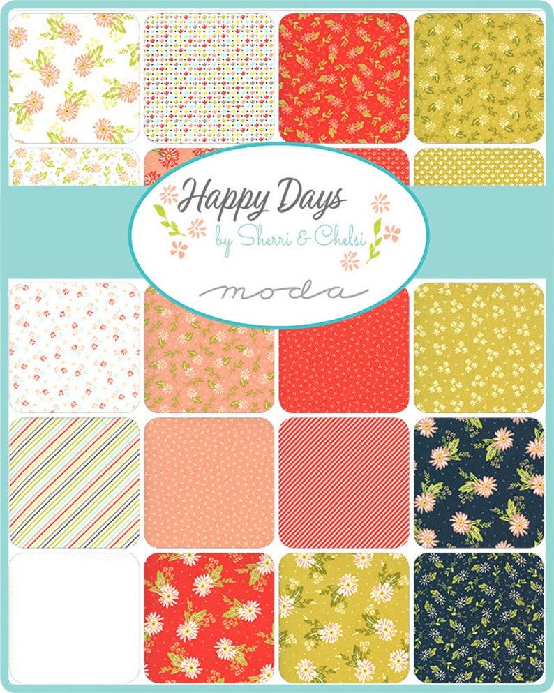 Layer Cake 42 pcs Happy Days 37600LC 10 sq designed by Sherri and Chelsea  for Moda fabrics