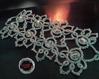 Silver Elegant Bracelet/ Tatting Lace Jewelry/ Vintage Elegant  Cuff Bracelet/ Romantic, Elegant and Stylish/ Antique Filigree / Gift/ OOAK