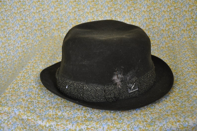 82a538d4fb5 Vintage 1950s Suede Fedora Hat Dobbs Game Bird Men's | Etsy