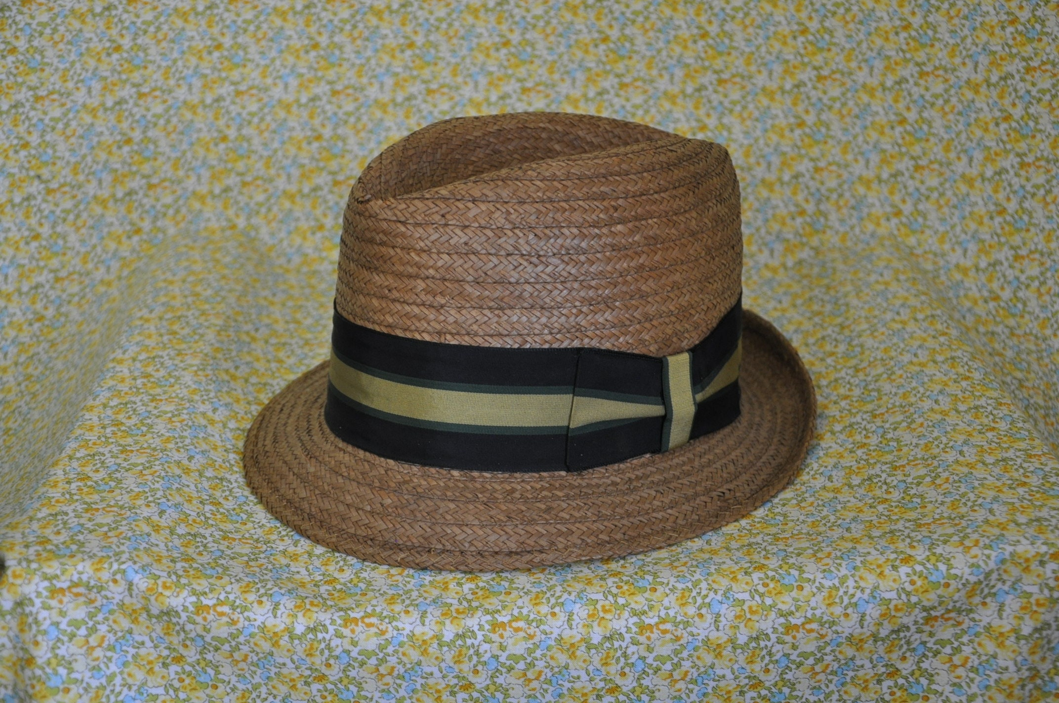 Vintage 1950s Straw Fedora Hat Dobbs Fifth Avenue New York  574cffd71da