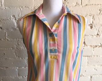 1970s Cotton Candy Tank Top