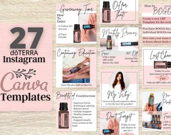 doTERRA Essential Oils Social Media Template Marketing Facebook Template For Business Instagram Template Canva Canva Template Wellness