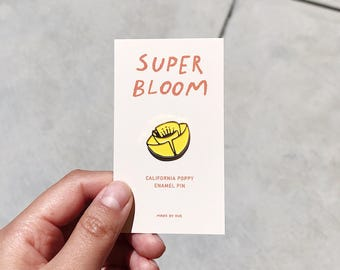 Super Bloom California Poppy Enamel Pin