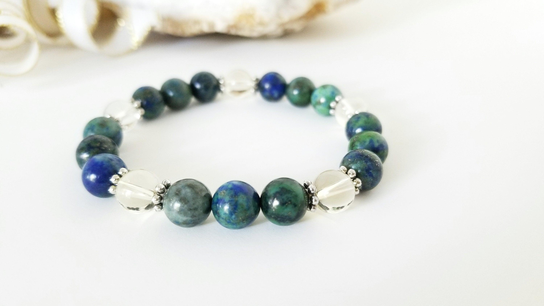 Meditation Mystical Chakra Gemstone Apatite Crystal Bracelet Psychic Intuition