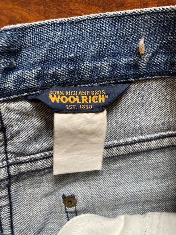 Vintage 80s Woolrich John Rich and Bros Blue Deni… - image 2
