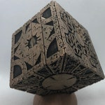 Painted Hellraiser Functional Puzzle Box Lament Configuration (Movie Replica 1:1, Black with Deep Bronze, PLA)