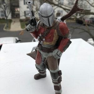 Star Wars Inspired Hand Crafted Mandalorian Figurine  PLA