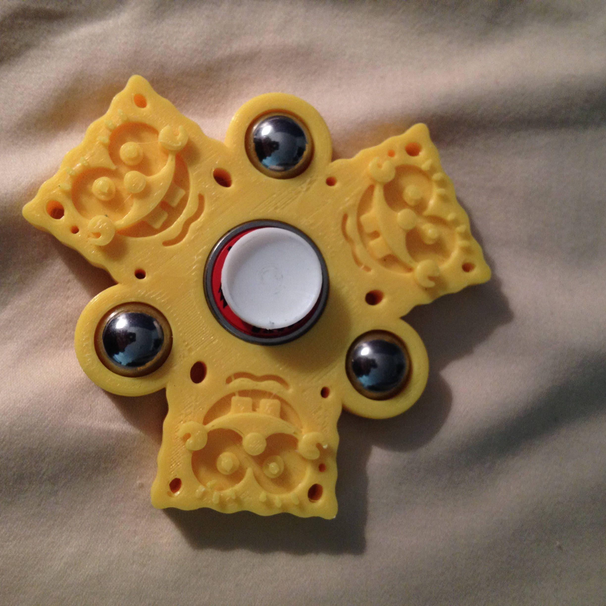 Custom Hand Ball Spinner Fid Toy Spongebob EDC w ABEC 9