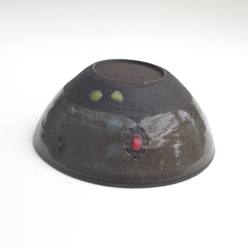 Handmade wheelthrown ceramic illustrated bowl