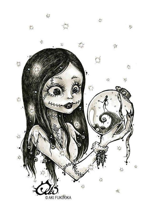 sally s snow globe premium art print aki art archival etsy