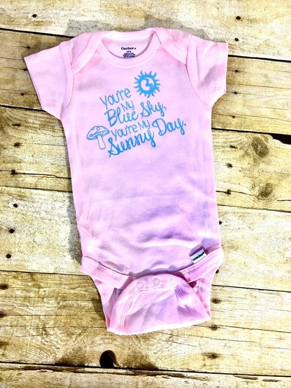 Blue Sky Custom Onesie Baby Bodysuit The Allman Brothers Gregg Allman Duane Allman Southern Rock Vintage Eat a Peach Rock Baby Shower