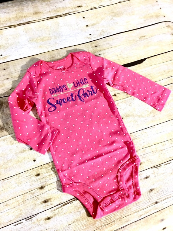 9a7c4894d Baby Girl Valentine Outfit Daddys Little Sweetfart First | Etsy