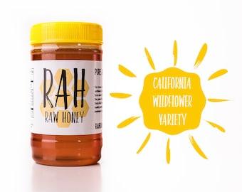California Wildflower Honey - 1lb - Raw, Un-filtered, Pure Raw Honey - Raw Honey California