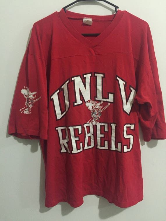 separation shoes eeb87 714d0 Vintage 90s UNLV Rebels Jersey T-Shirt