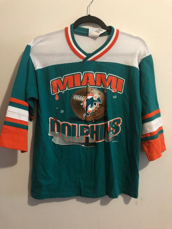 reputable site 49b3a ccc33 Vintage Miami Dolphins Jersey T Shirt
