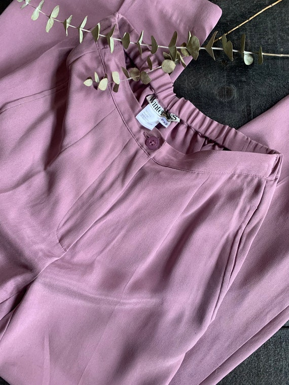 Vintage Dusty Lavender X Small Silk Trousers