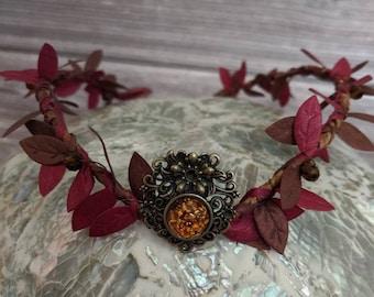 Woodland Crown - Fairy Tiara - Fall Crown - Autumn Fairy Circlet - Fall Circlet - Autumn Wedding Crown - Mabon Handfasting Circlet