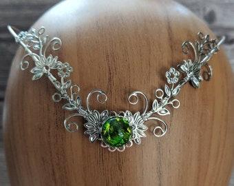 Fairy Crown - Elven Circlet - Silver Flower Crown - Silver Circlet - Handfasting Tiara