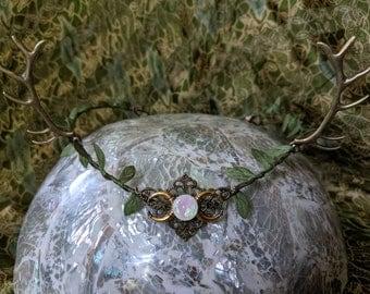 Antler Crown - Horned Circlet - Horned Crown - Antler Headband - Woodland Circlet - Goddess Crown - Moon Crown