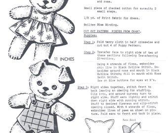 Puppy Twins 2116.  Sewing  / Stuff Animals - PDF Immediate Download Patterns