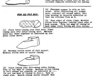 Bunny Slippers 1211.  Sewing  / Stuff Animals - PDF Immediate Download Patterns