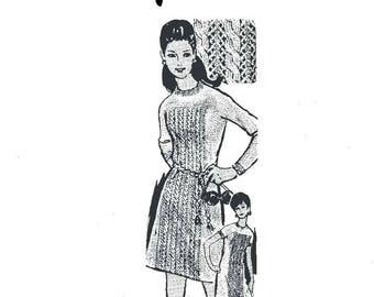 Knitted Dress Design 7066 - PDF Immediate Download Patterns